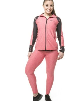 Core Active Performance Full Zip With Thumbholes.(PINK and BLACK)